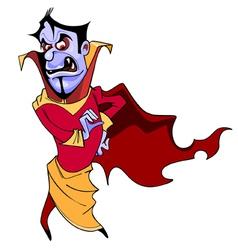 Cartoon scary vampire vector