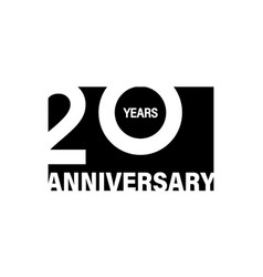 celebrating happy 20 years anniversary banner on vector image