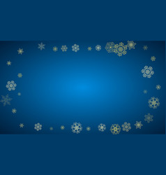 christmas and new year snowflakes vector image