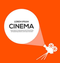 cinema movie poster design film camera vector image