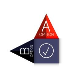 color paper arrow design template vector image