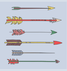 colorful arrow tribal set vector image