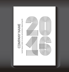 Cover Annual Report numbers 2016 modern design vector image vector image