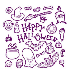 creative background with happy halloween wish vector image