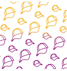 degraded line cap casual textile accessory vector image