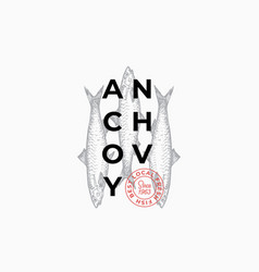 Fish producers or restaurant abstract sign vector