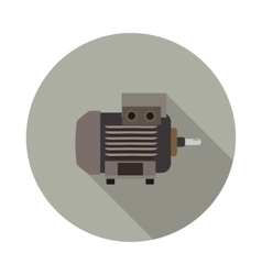 flat icon motor vector image