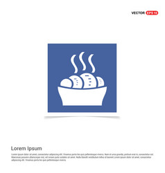 Food icons - blue photo frame vector