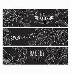 fresh bread poster vector image
