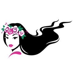 girl in wreath vector image