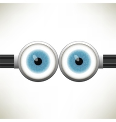 Goggle with Two Blue Eyes vector image