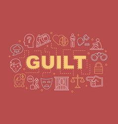 Guilt word concepts banner vector