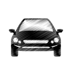 hand drawing front view of car vector image