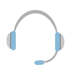 Headphone icon Sound and music design vector image vector image