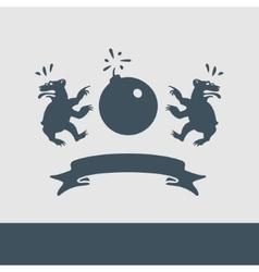 Heraldry Caricature vector image
