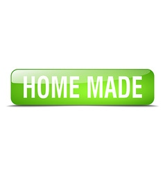 home made green square 3d realistic isolated web vector image