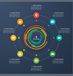 Infographic template with integrated vector
