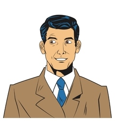 Man with jacket and tie vector
