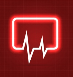 Medical icon with heartbeat chart vector
