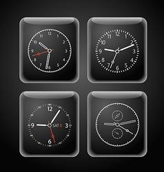 Modern digital watch dials template vector