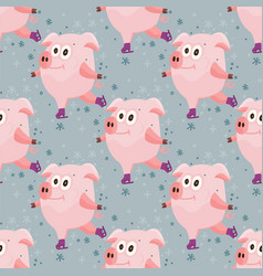 new year 2019 seamless pattern vector image