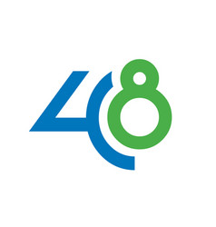 number 48 vector image