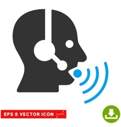 Operator Talking Sound Waves Eps Icon vector