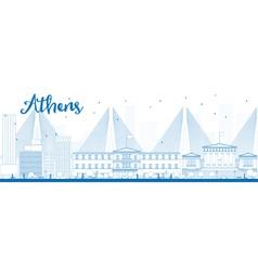 Outline Athens Skyline vector