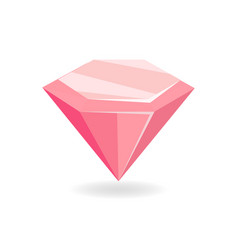 Pink mineral crystalic precious stone glass vector