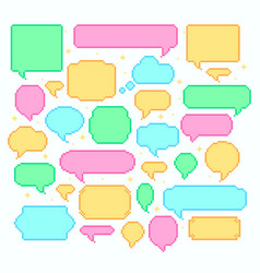 pixel speech bubbles talk and communication vector image