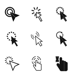 Pointer of computer icons set simple style vector image