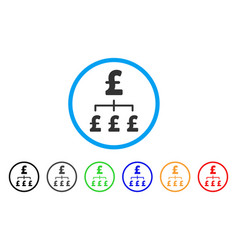 pound hierarchy rounded icon vector image