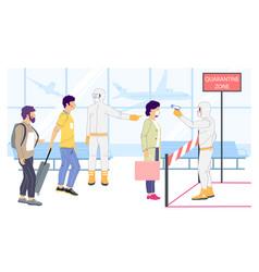 quarantine zone concept flat style design vector image