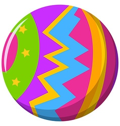 Round ball with color pattern vector