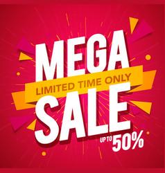 Sale banner template design mega special offer vector