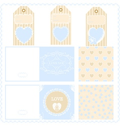 Scrapbook design elements Valentines for design vector