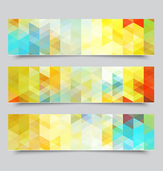 set of abstract geometric banners eps10 vector image