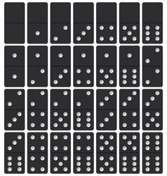 set of domino pieces vector image
