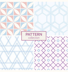 set of four seamless fashion colorful patterns vector image