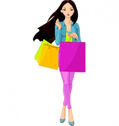 shopping diva vector image