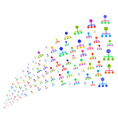 source stream of hierarchy vector image
