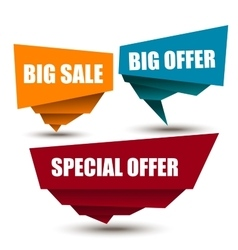 Special Offer Big offer Best Price Marks vector