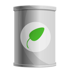Spinach tin can icon cartoon style vector