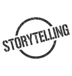 Storytelling stamp vector