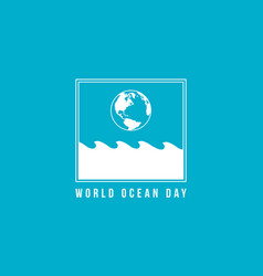 Style background world ocean day vector