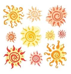 Sun set hand drawn vector image