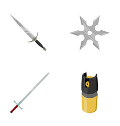 Sword two-handed sword gas balloon shuriken vector