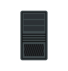 System unit of computer icon flat style vector image