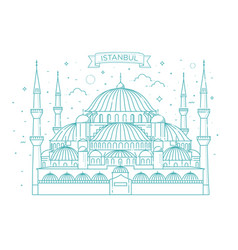 The blue mosque istanbul turkey vector