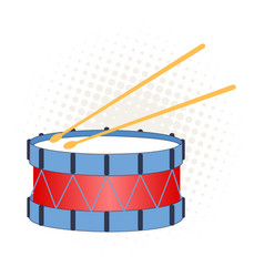 Toy drum on a white background vector